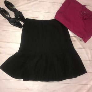 Loft Black Mermaid Fit and Flair Skirt Size 6 NWOT